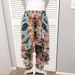 Joe Benbasset High Low Floral Multicolored Skirt